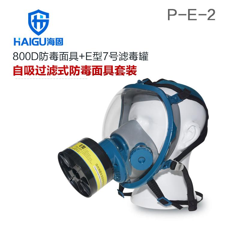 海固800D全面罩+HG-ABS/P-E-2滤毒罐 酸性气体专用